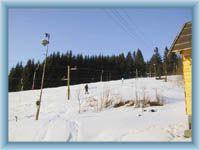 Jeden z lyžařských vleků na Soláni