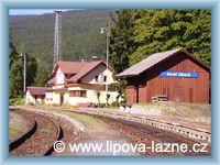 Lipová - Železniční zastávka v Horní Lipové