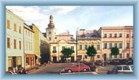 Náměstí ve městě Odry
