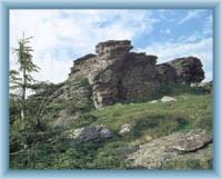 Vrcholové skalisko Vozky