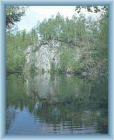 Zatopený lom na Žulovém vrchu