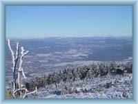 Ještěd - pohled z vrcholu
