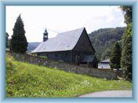 Dřevěný kostelík v Kryštofově Údolí