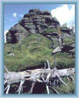 Vrcholové skalisko hory Jizery