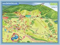 Benecko letní mapa