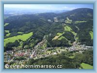 Horní Maršov - letecký pohled