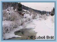 Velká Úpa - Zamrzlá řeka