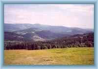 Pohled ze sjezdovky u Vysokého nad Jizerou