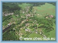 Letecký pohled na obec Libá