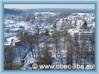 Pohled na obec Libá ze zámecké věže