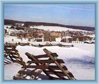 Celkový pohled na obec Kovářská
