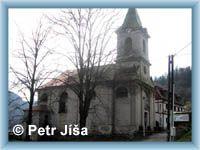 Barokní kostel Nesvětější Trojice v Dolním Žlebu