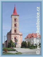 Velké Bílovice - Kostel a fara