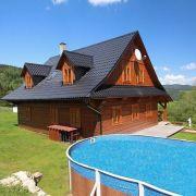 Horská roubenka s bazénem, saunou, whirlpoolem
