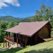 Horský kanadský srub s bazénem, whirlpoolem, Wi-Fi