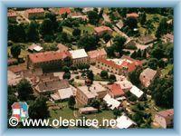 Olešnice v Orlických horách - Letecký pohled na náměstí