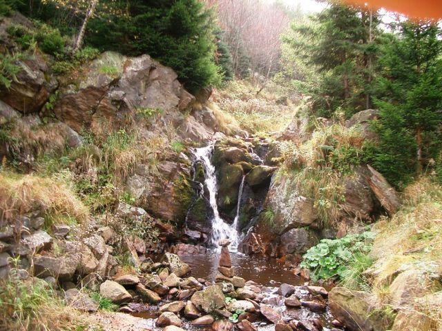 Malý Medvědí vodopád v Bezručově údolí