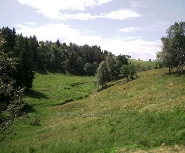 Výsluní - po prameni a po toku - Prunéřovský potok