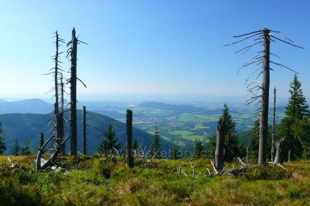 Fotografie z vrcholu Kněhyně