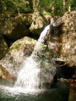 opomíjený ale krásný vodopád s jezírkem Gelobtbach u hranic