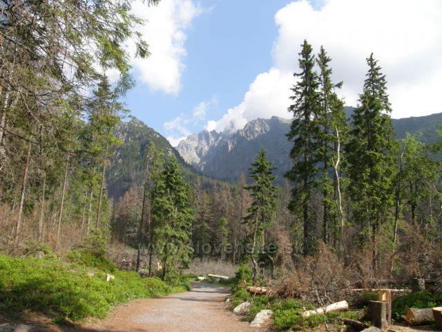 Lomnický štít od Bilíkovy chaty-Vysoké Tatry