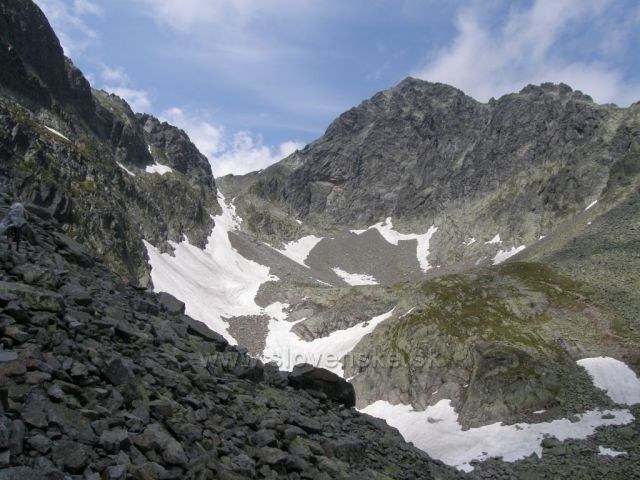 závěr Malé Studené doliny pod Priečnym Sedlom-Vysoké Tatry