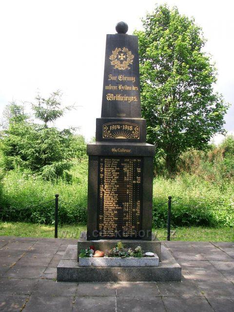 pomník obětem války Dolina a Kotlina