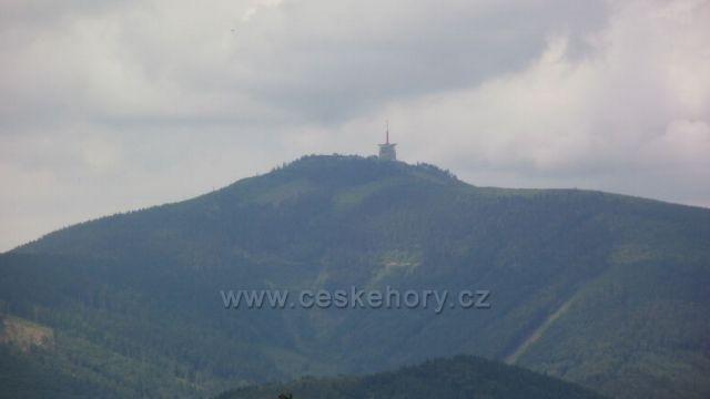 pohled z trasy Gruň - Ostravice