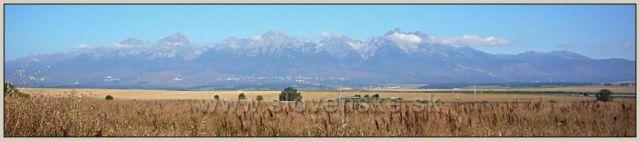 Panorama Vysokých Tater od Popradu