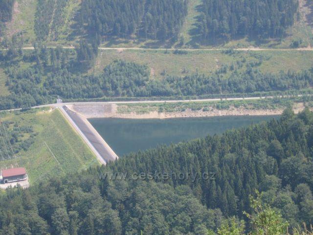 Jeseníky, Dolní nádrž vodní přečerpávací elektrárny Dlouhé Stráně