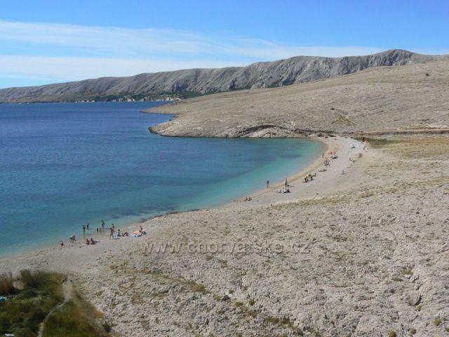 ostrov Pag, pláž Ručica