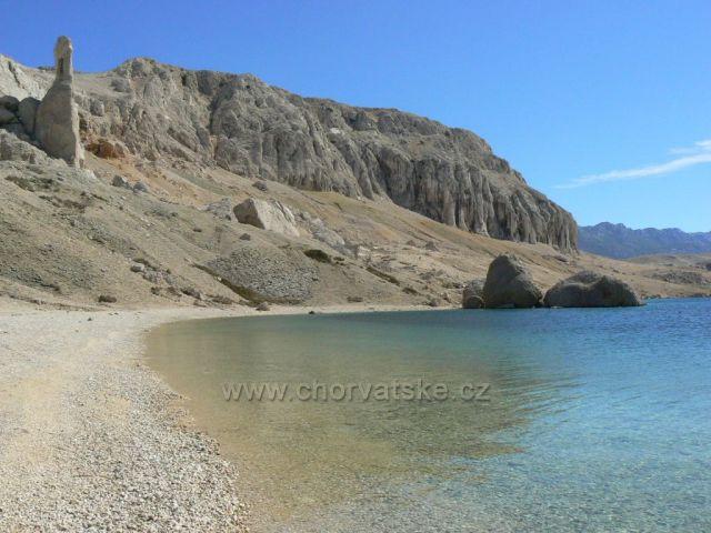 ostrov Pag, pláž Beritnica