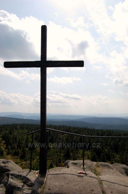 na vrcholu Jizerských hor Jizera