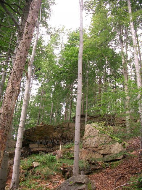skalka u hranic, německá strana , Kryštofovy Hamry