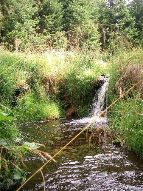 vodopád Hraniční potok , Kryštofovy Hamry