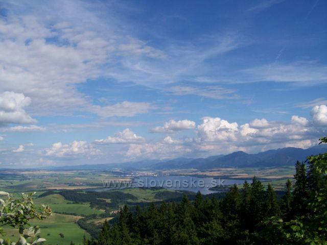 výhled z hradu Liptov...