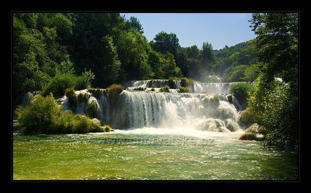 Sintrové vodopády v NP Krka