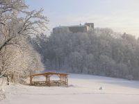zimní pohled na hrad Buchlov