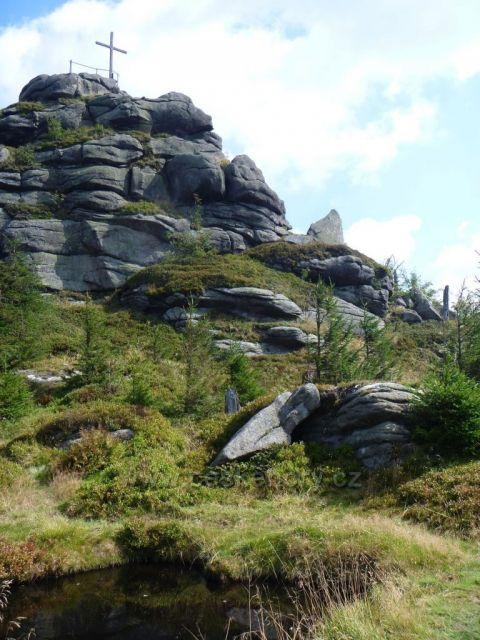 Pohled na druhou nejvyšší horu české části Jizerských hor- Jizeru(1122m)