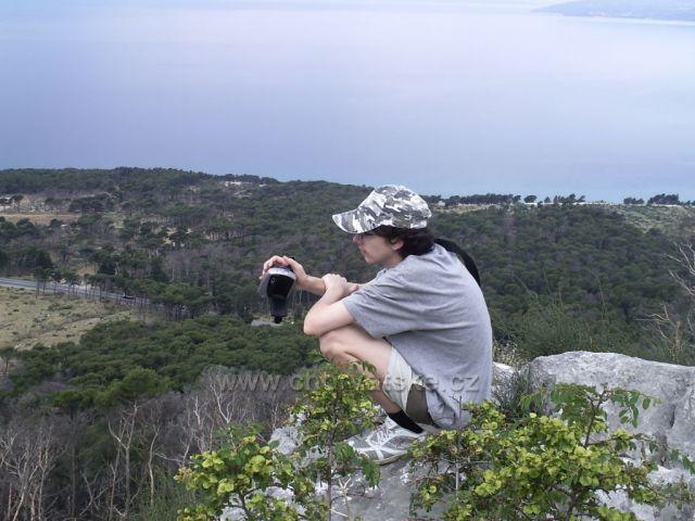 pohled z pohoří od Veliko Brdo