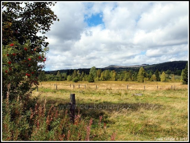 Šumava - Knížecí Pláně, pohled na Siebensteinkopf