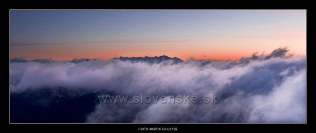 inferno....pohled z Chopku na Vyskoké tatry