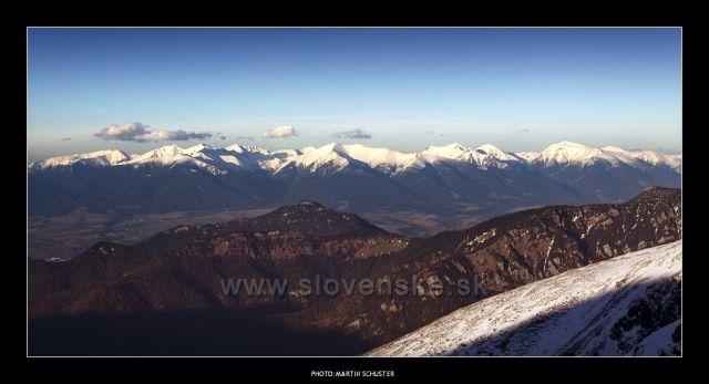 Vysoké Tatry,foceno z Chopku