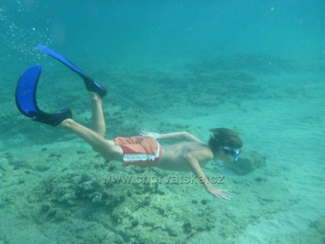 potápanie v zátoke Slanica na Murteri