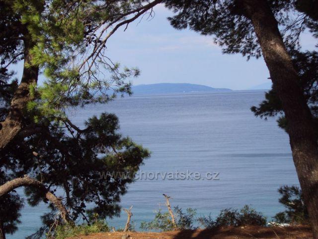 Moře mezi stromy v Gradacu