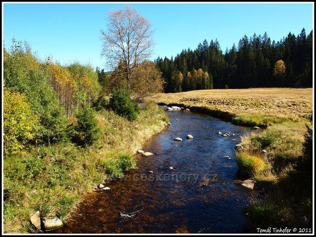 Šumava - Roklanský potok nedaleko Modravy