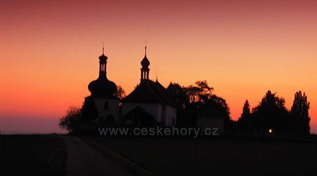 západ slunce v Dobrušce