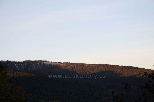 Svítání nad Jezerní Stěnou.