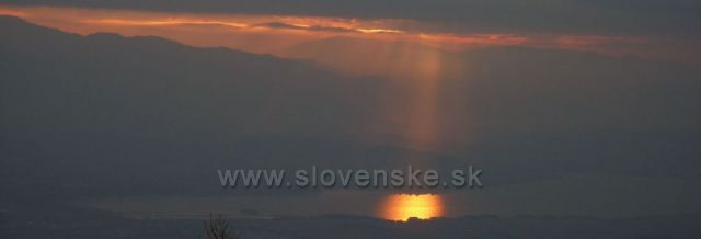 západ slunce do Liptovské Mary