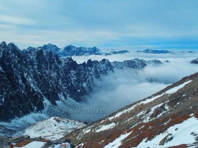 Výhľad zo Sedielka pod Malým ľadovým - Vysoké Tatry